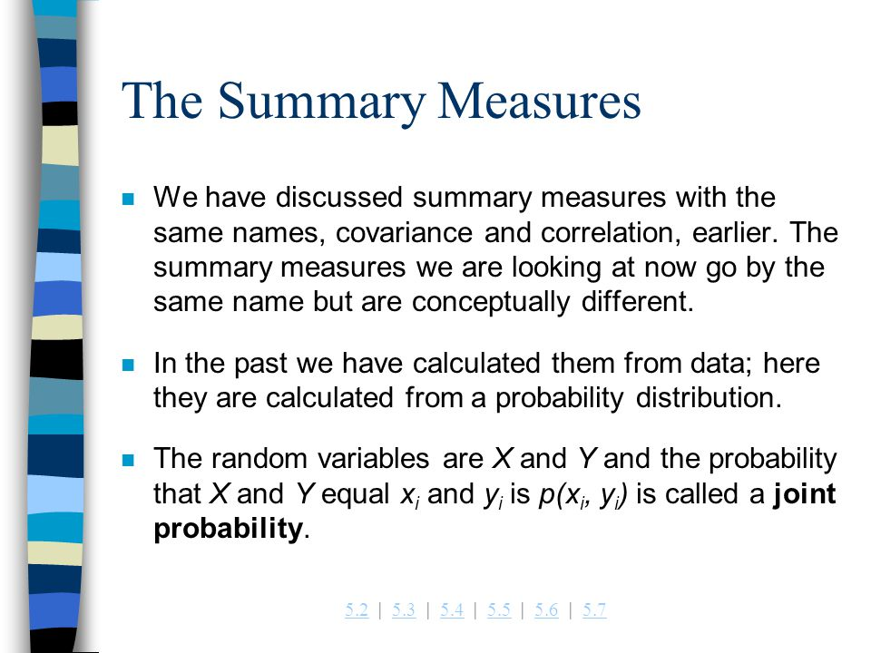 The Summary Measures