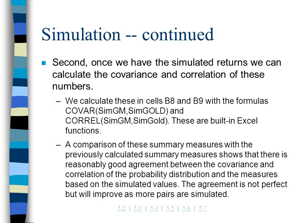 Simulation -- continued