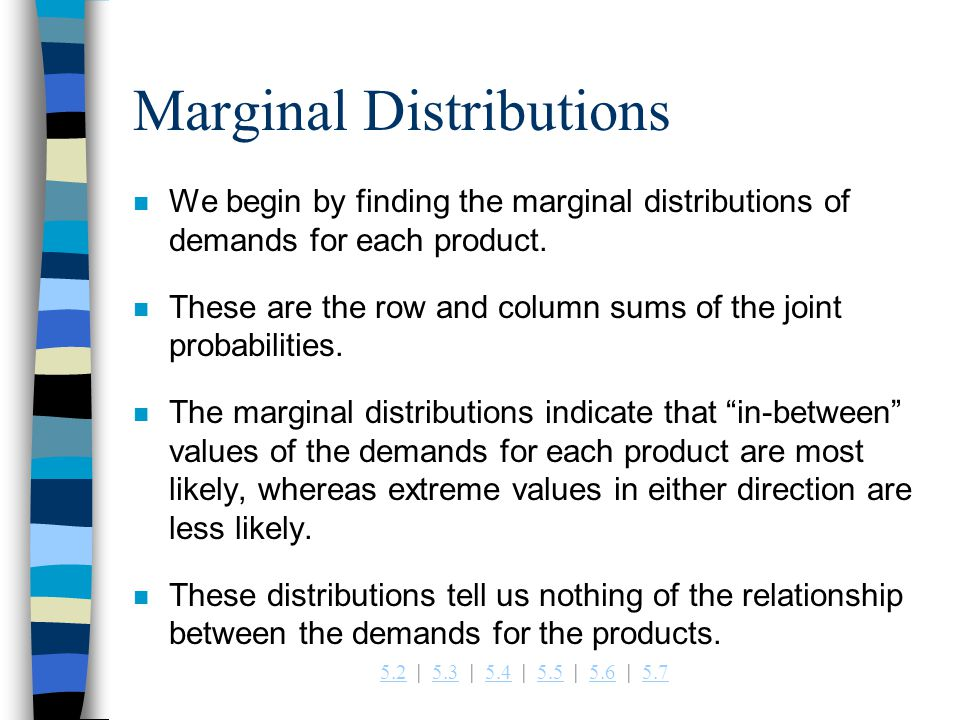 Marginal Distributions