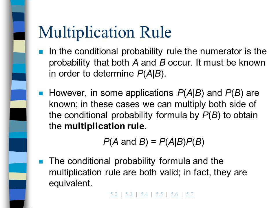 Multiplication Rule