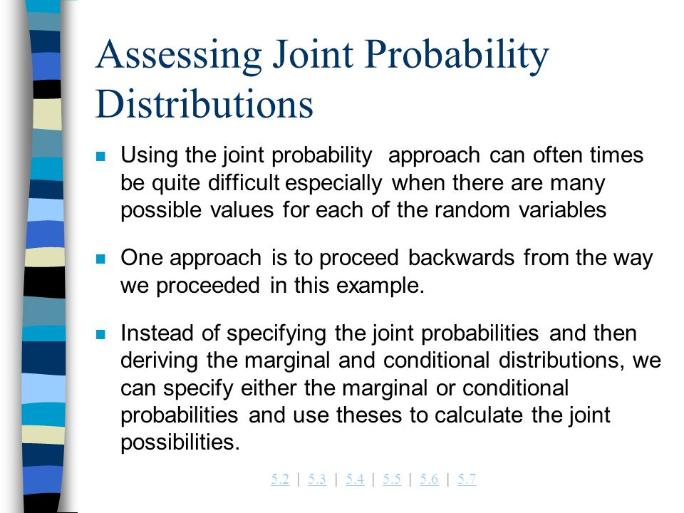 Assessing Joint Probability Distributions