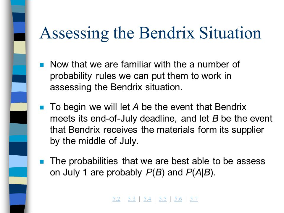 Assessing the Bendrix Situation