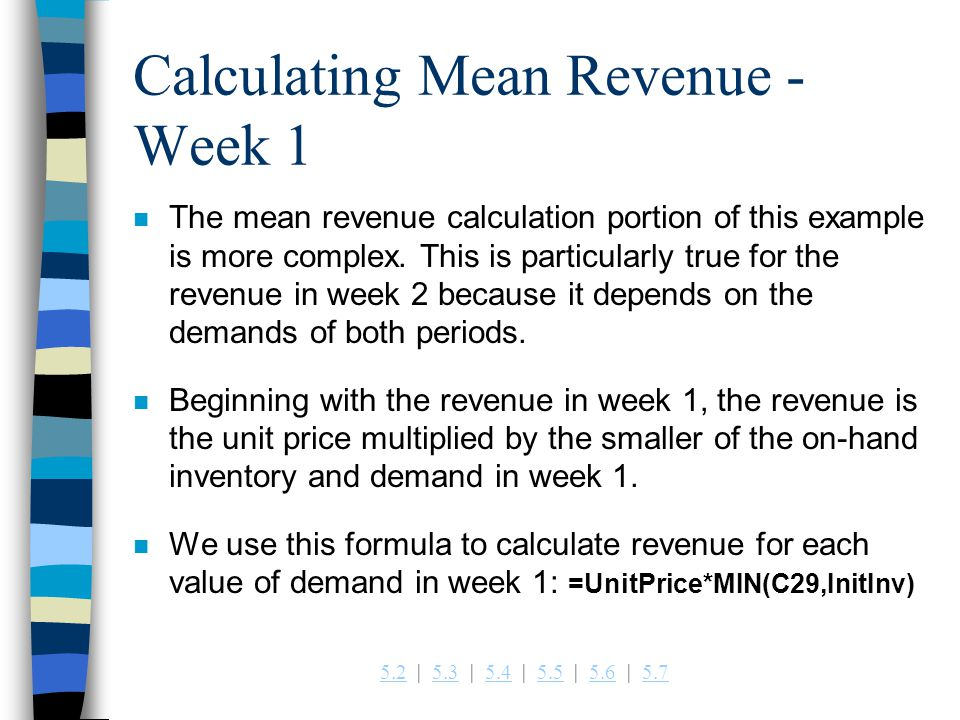 Calculating Mean Revenue -Week 1