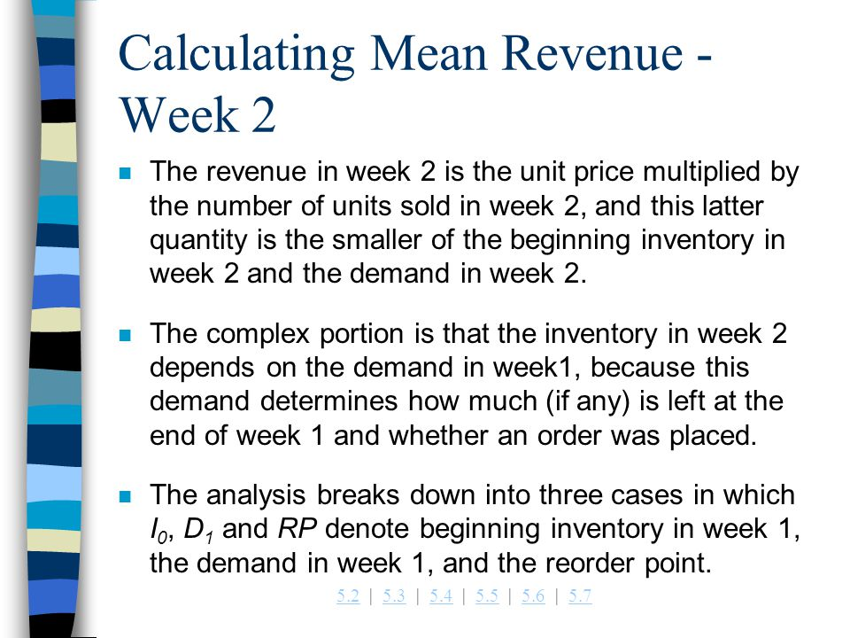 Calculating Mean Revenue - Week 2