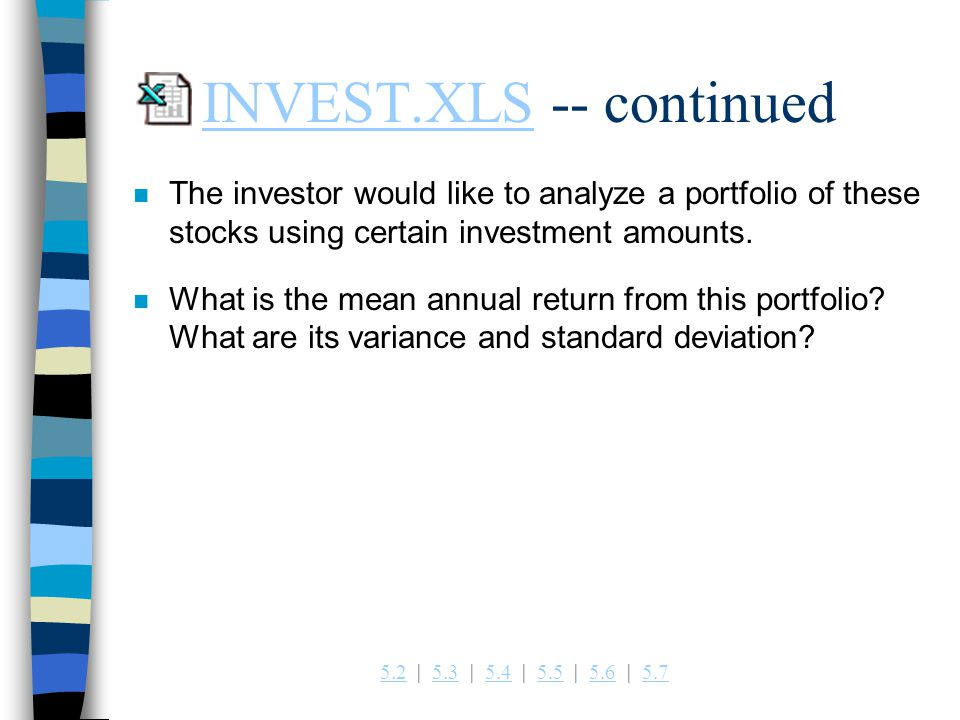 INVEST.XLS -- continued