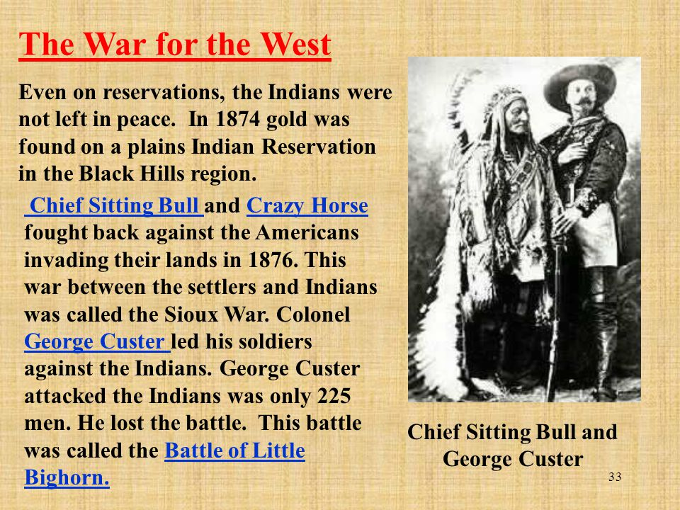 Chief Sitting Bull and George Custer