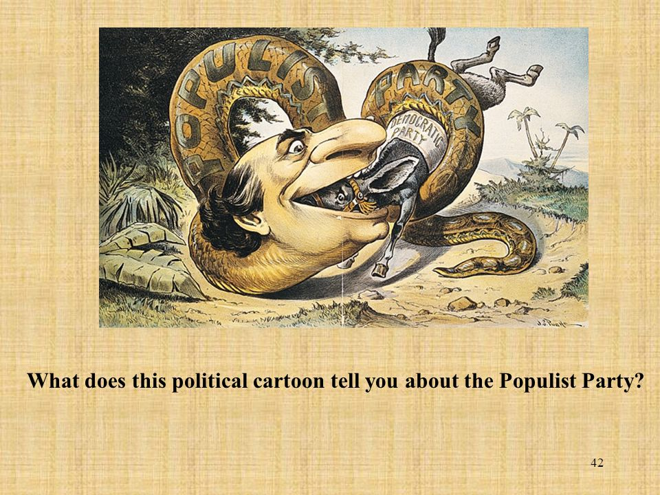 What does this political cartoon tell you about the Populist Party