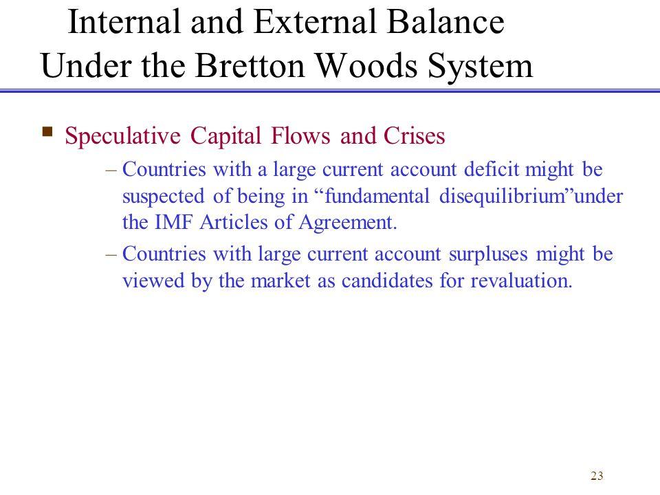 Internal and External Balance Under the Bretton Woods System