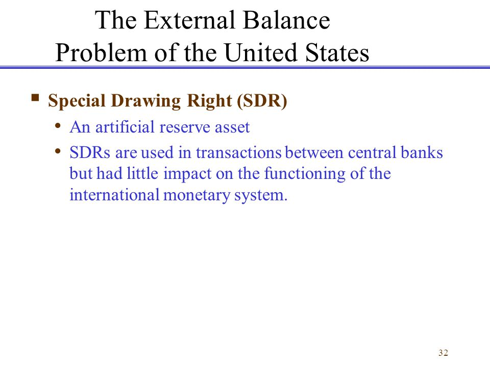 The External Balance Problem of the United States