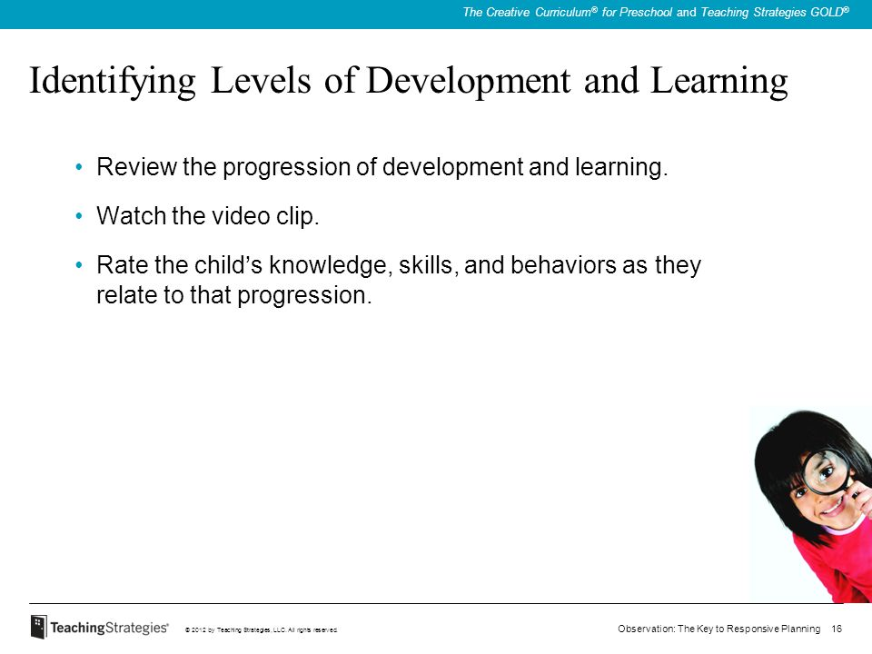 Identifying Levels of Development and Learning