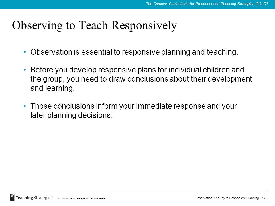 Observing to Teach Responsively