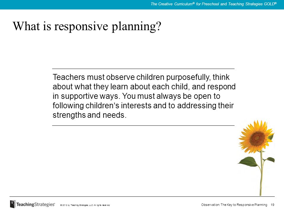 What is responsive planning