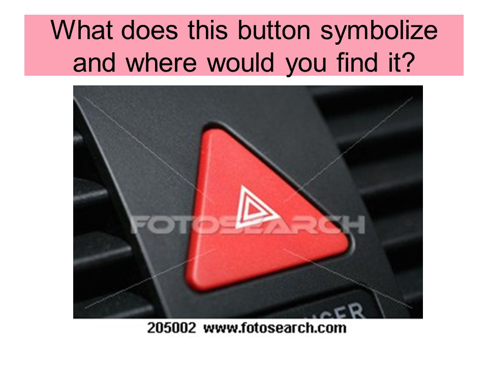 What does this button symbolize and where would you find it