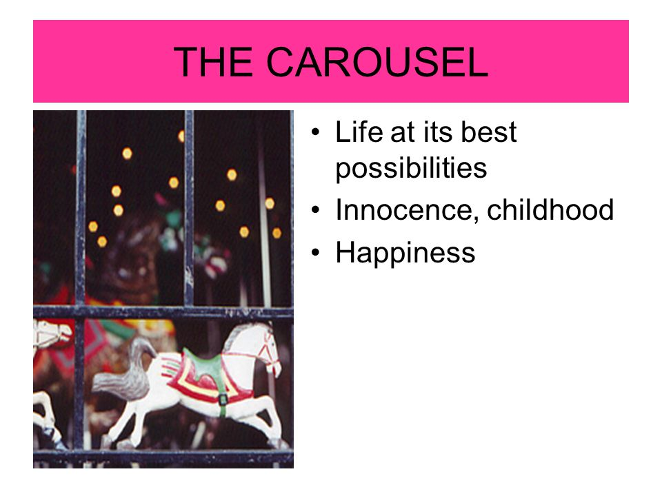 THE CAROUSEL Life at its best possibilities Innocence, childhood
