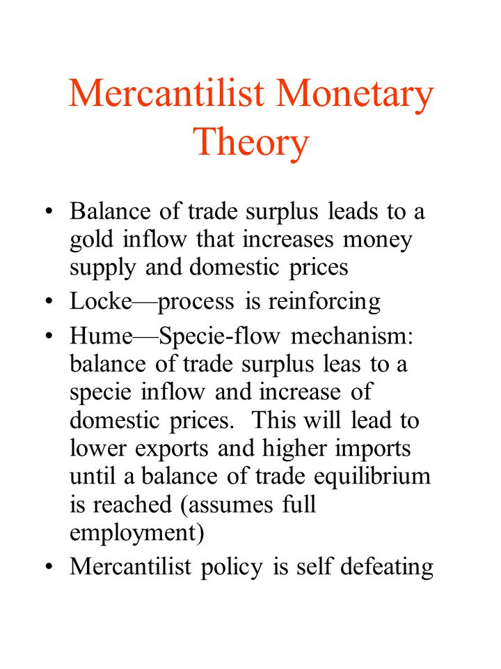 Mercantilist Monetary Theory