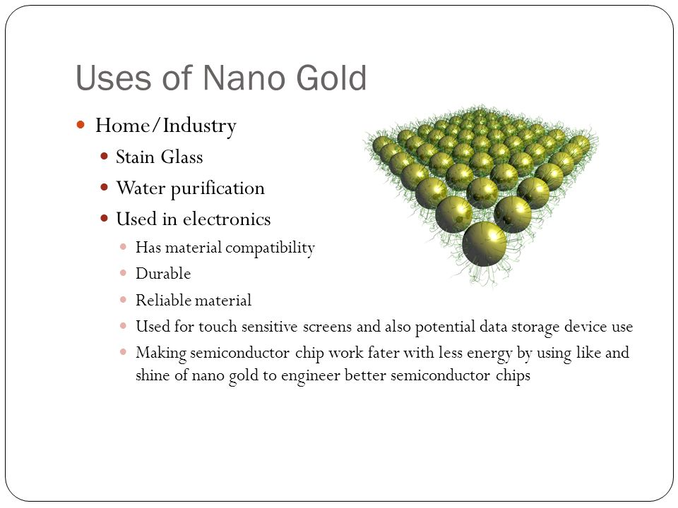 Uses of Nano Gold Home/Industry Stain Glass Water purification