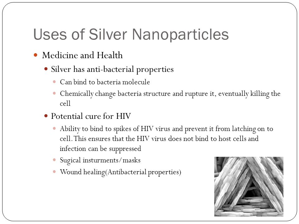 Uses of Silver Nanoparticles