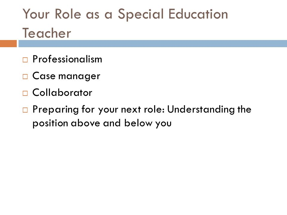 Your Role as a Special Education Teacher
