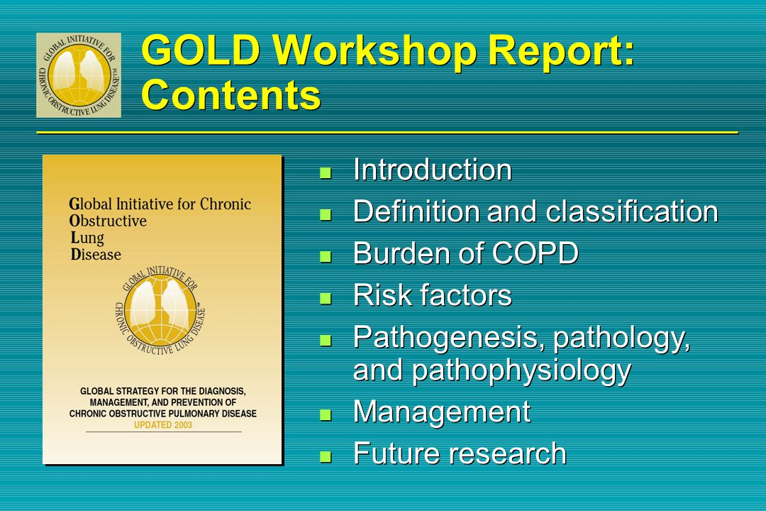 GOLD Workshop Report: Contents