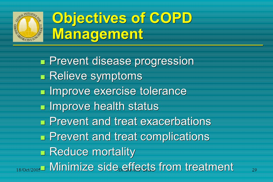 Objectives of COPD Management