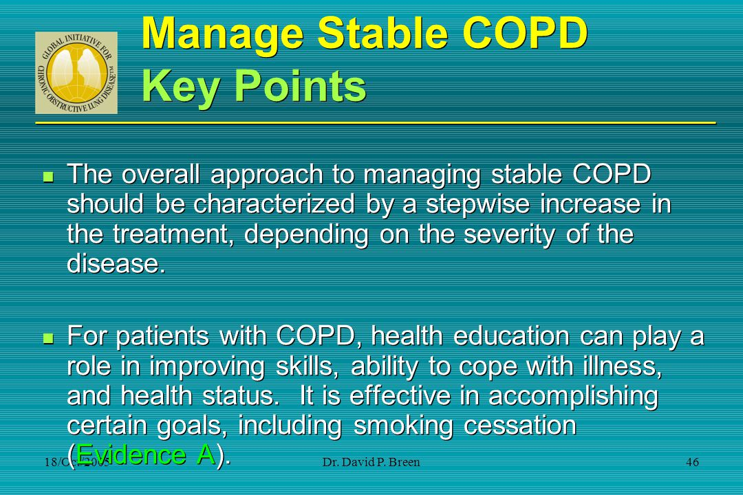Manage Stable COPD Key Points