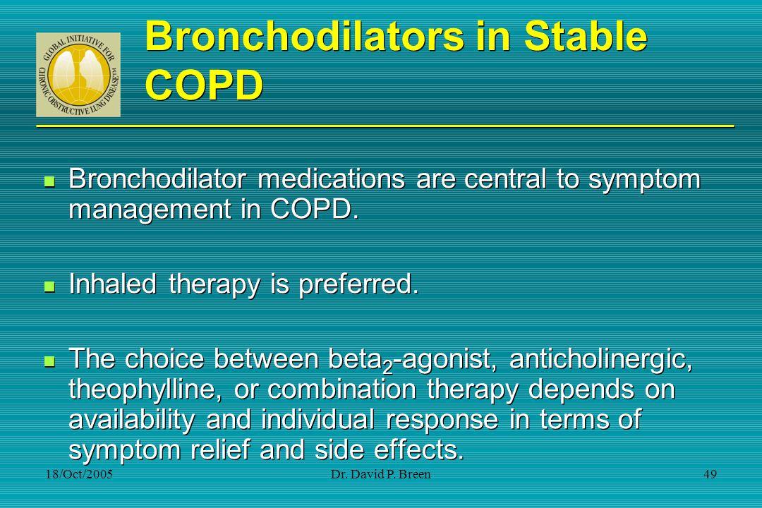 Bronchodilators in Stable COPD