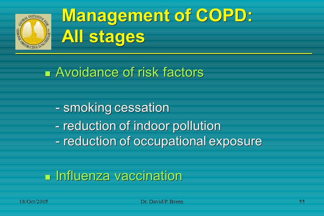 Management of COPD: All stages