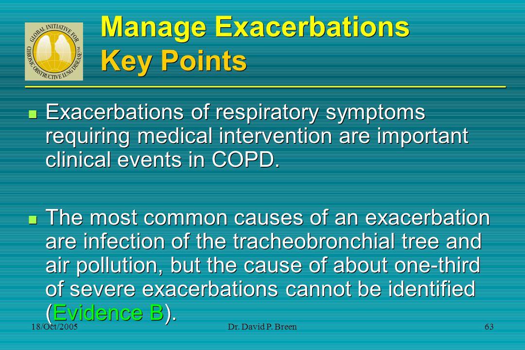 Manage Exacerbations Key Points