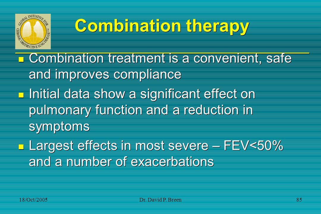 Combination therapy Combination treatment is a convenient, safe and improves compliance.