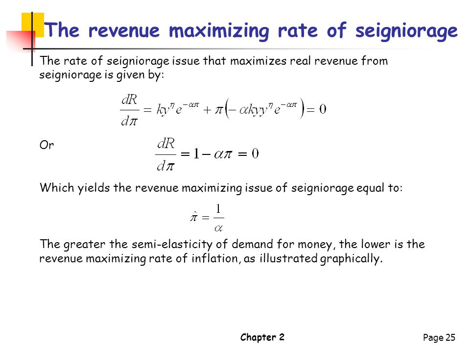 The revenue maximizing rate of seigniorage