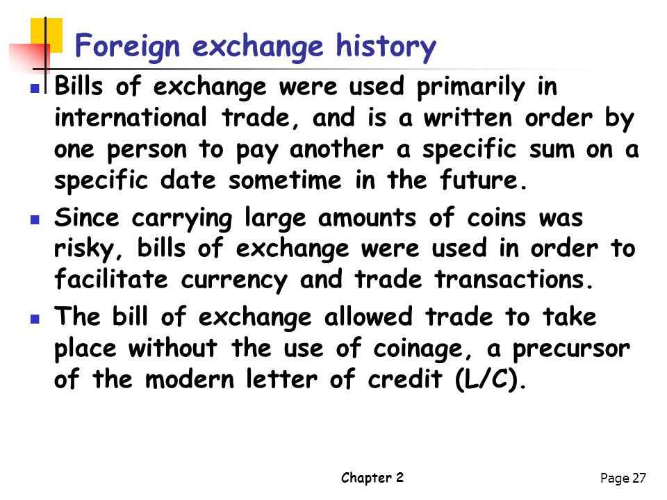 Foreign exchange history