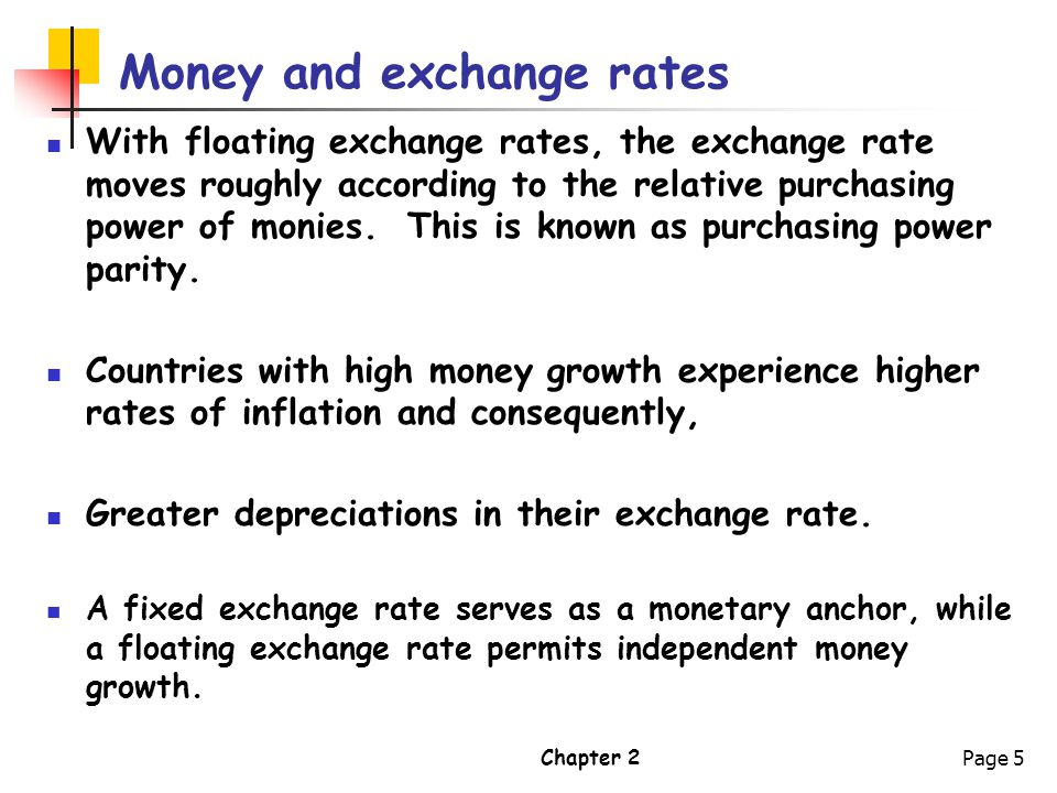 Money and exchange rates