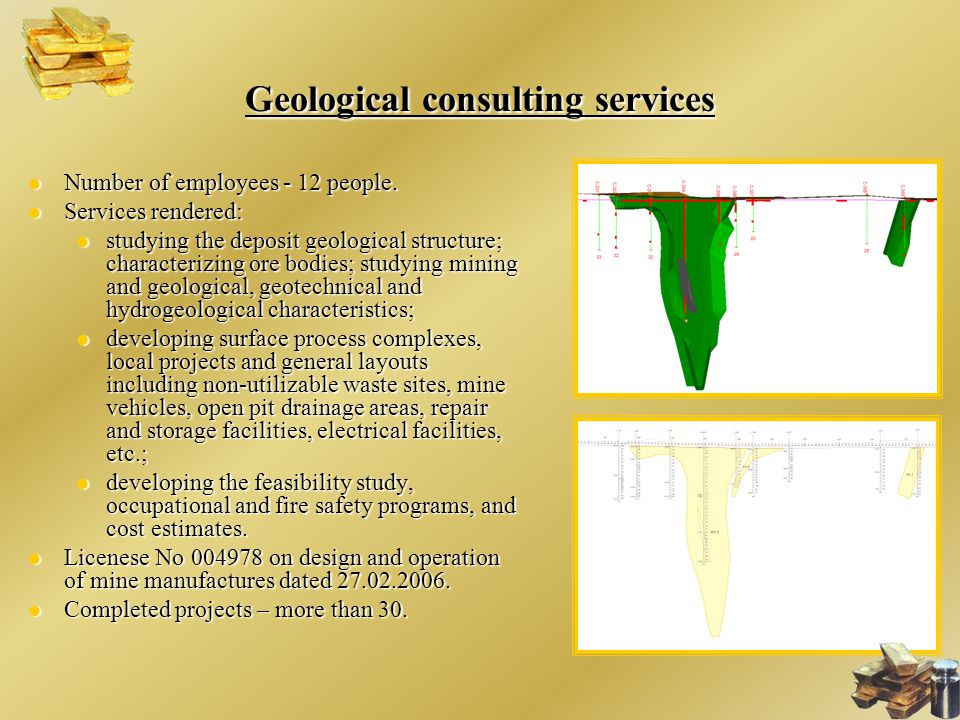 Geological consulting services