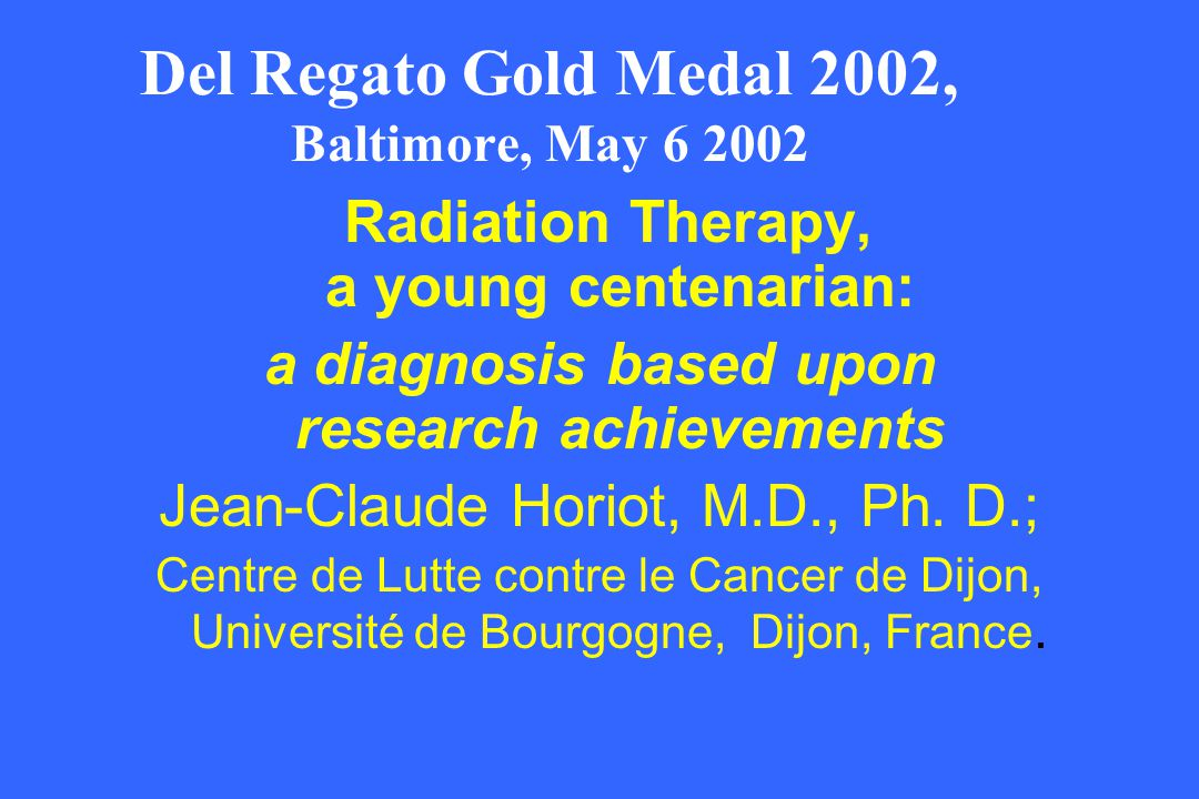 Del Regato Gold Medal 2002, Baltimore, May 6 2002
