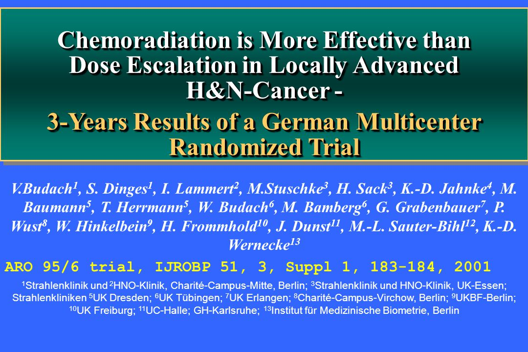 3-Years Results of a German Multicenter Randomized Trial