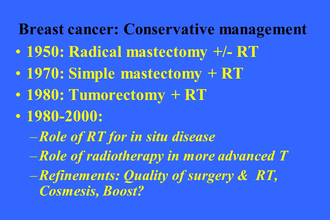 Breast cancer: Conservative management