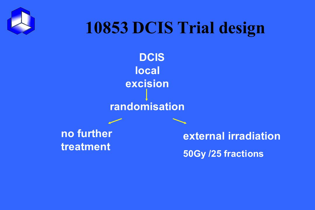 10853 DCIS Trial design DCIS local excision randomisation