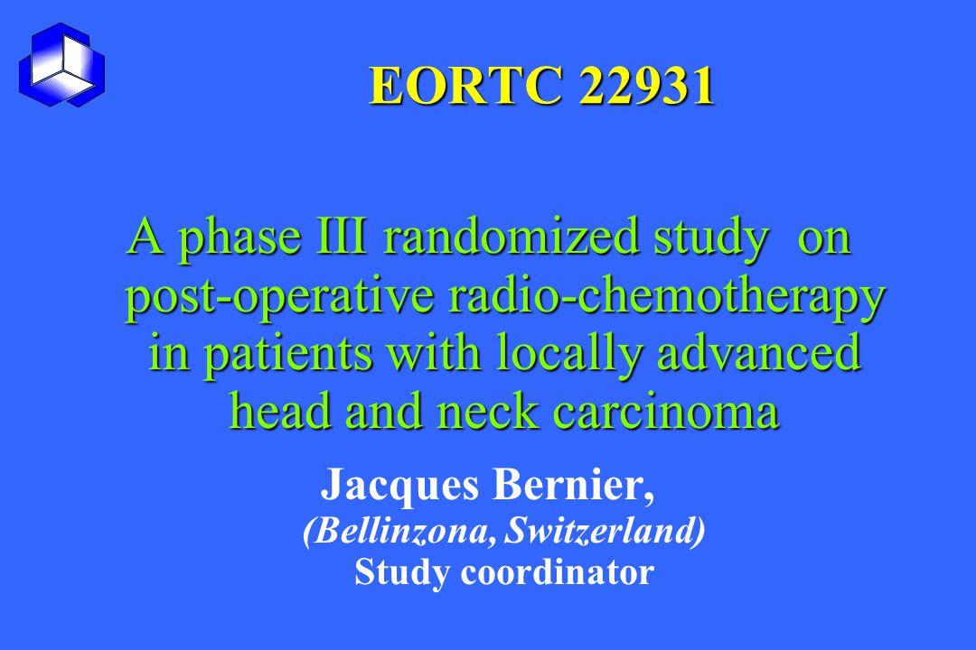 Jacques Bernier, (Bellinzona, Switzerland) Study coordinator