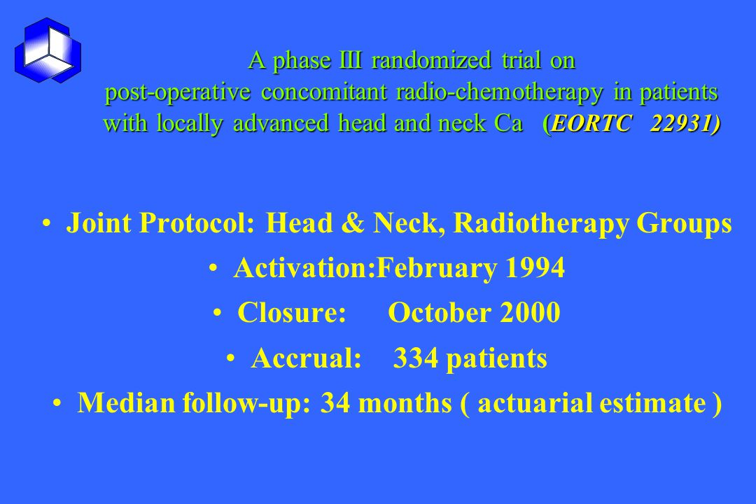 Joint Protocol: Head & Neck, Radiotherapy Groups