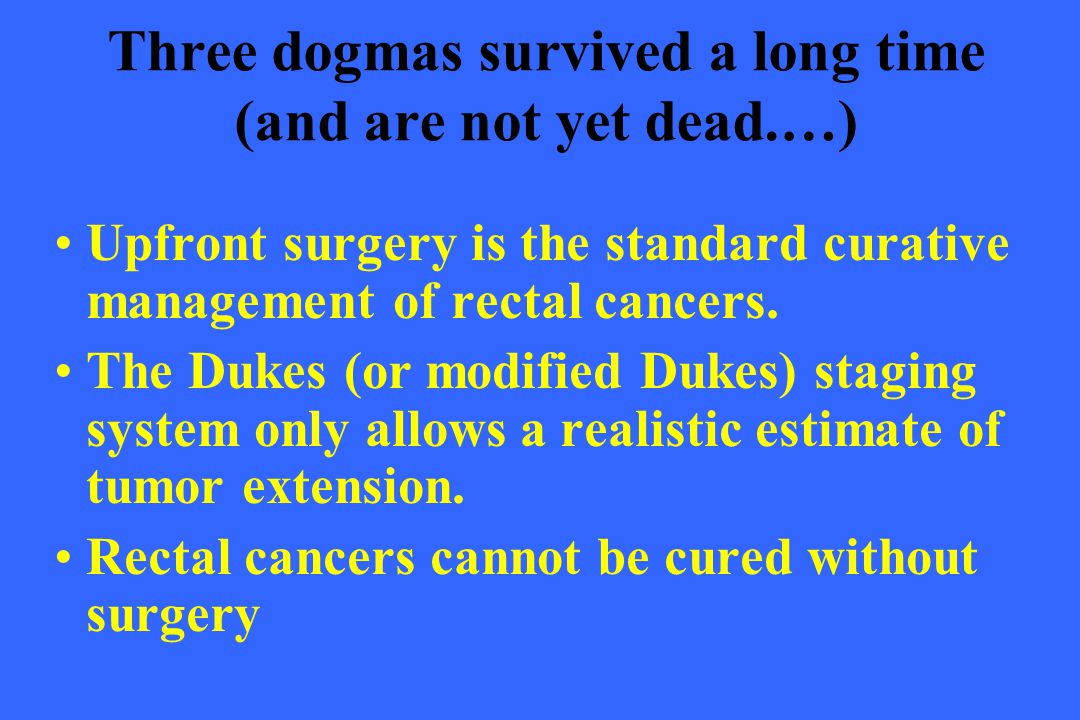 Three dogmas survived a long time (and are not yet dead.…)