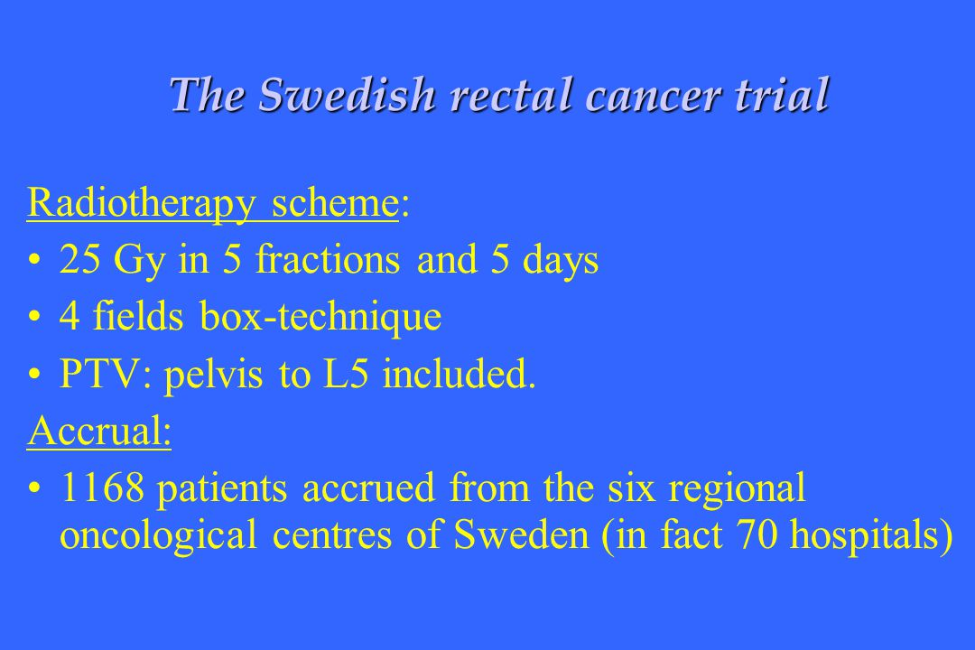 The Swedish rectal cancer trial
