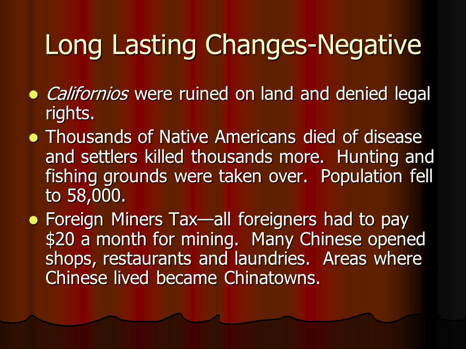 Long Lasting Changes-Negative