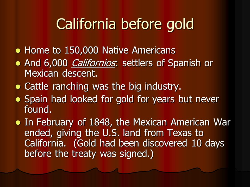 California before gold