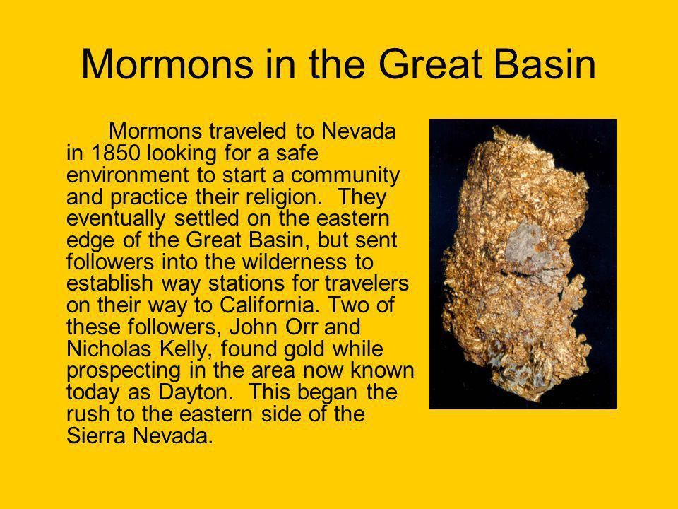 Mormons in the Great Basin