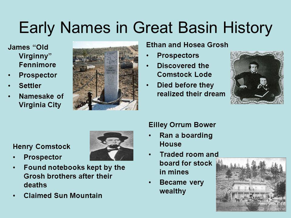 Early Names in Great Basin History
