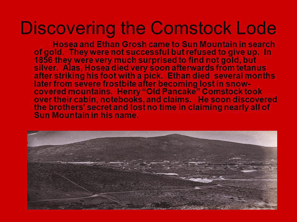 Discovering the Comstock Lode