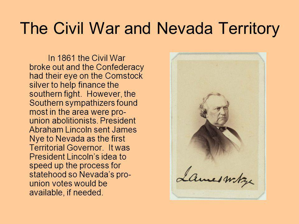 The Civil War and Nevada Territory