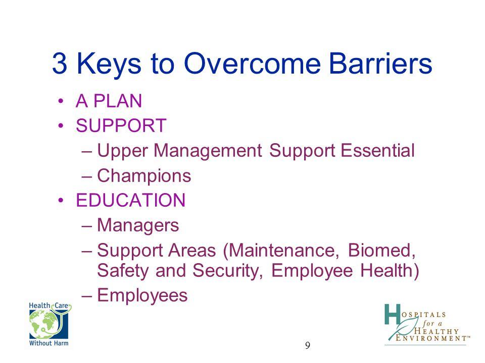 3 Keys to Overcome Barriers