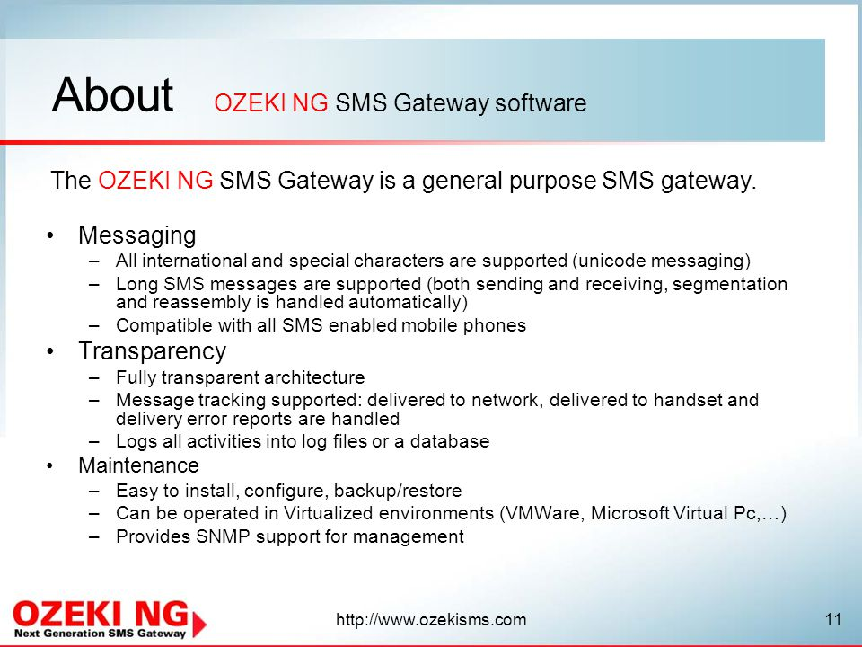 OZEKI NG SMS Gateway software