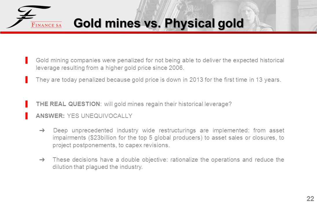 Gold mines vs. Physical gold